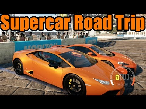 Forza Horizon 2 | Supercar Road Trip | Lamborghini Huracan and McLaren 650s