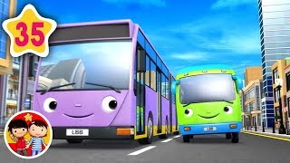 ¡Diferentes tipos de autobuses! | Nanas para bebés | Little Baby Bum - Canciones Infantiles