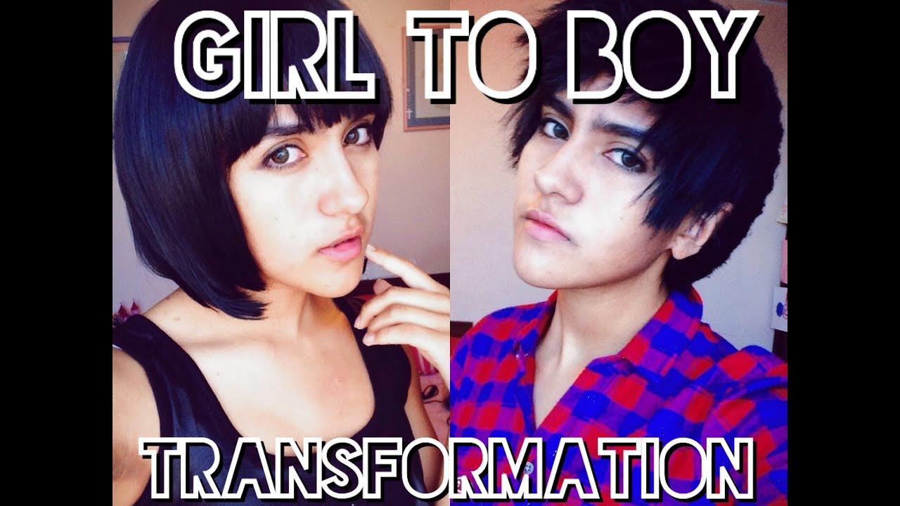 Girl to Boy Makeup