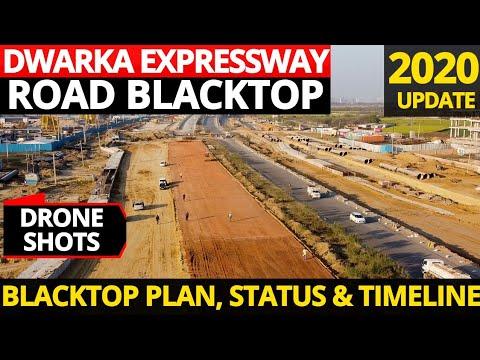 Initial Work to Blacktop Dwarka Expressway Surface Road Begins in Gurugram