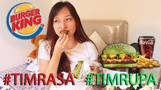 MENU TERBARU BURGER KING? Burger HIJAU?? | REVIEW WHOPPER DAMAIAN #TIMRASA
