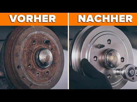 Wie FIAT PUNTO hintere Bremstrommel und das Bremsbeläge  wechseln TUTORIAL | AUTODOC