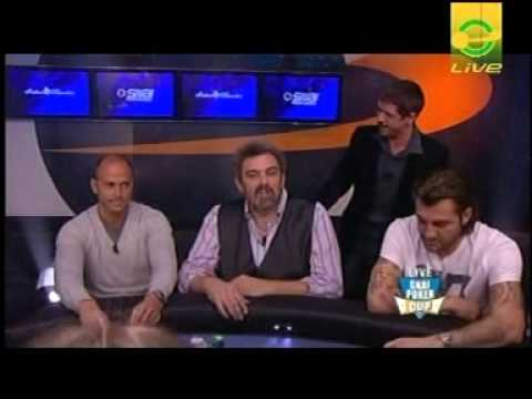presentazione tavolo tv VIP della Snai Cup in diretta da Campione