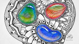 Видео как рисовать мандалу
