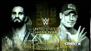 WWE Night Of Champions 2015 John Cena Vs. Seth Rollins Official Match Card