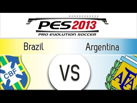 [TTB] PES 2013 Brazil Vs Argentina - Playthrough Commentary, Superstar Difficulty