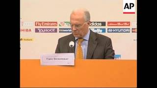 Beckenbauer, head of the Germany 2006 Organising Committee reacts
