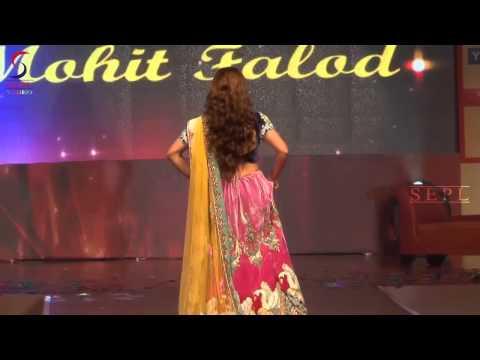 Soha Ali Khan in Bright Colourful Lehenga at Globoil Fashion Show