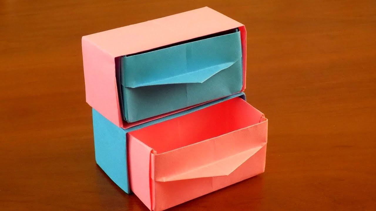 Как сделать оригами из бумаги шкаф для кукол