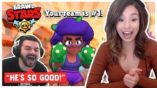 Pokimane wins against the #1 player in the game?! BRAWL STARS ft. CouRageJD! #ad