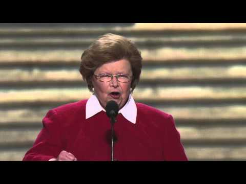 Senator Barbara Mikulski at the 2012 Democratic National Convention