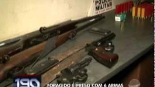 Acusado de assaltar fazendas de Rio Paranaíba é preso com um verdadeiro arsenal