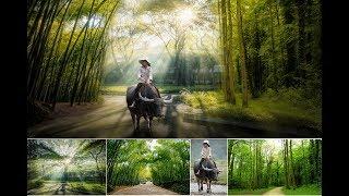 Cách ghép hình Manip cơ bản bằng phần mềm photoshop | Aphoto