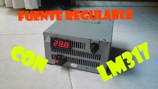 Fuente Regulable de Laboratorio con LM317