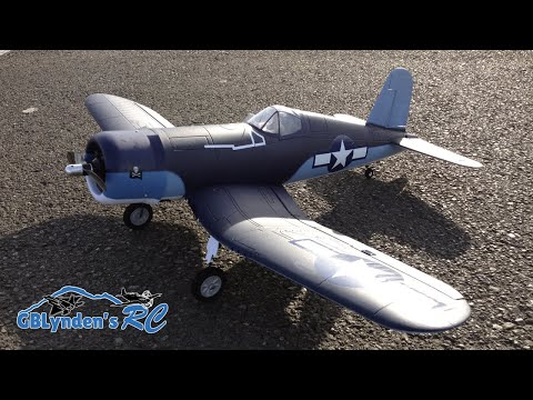 Parkzone F4U-1A Corsair Parkflyer WWII Warbird RC Plane Unboxing. Maiden Flight. and Flight Review
