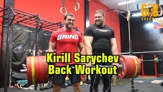 (eng subs) Kirill Sarychev Back Workout/Кирилл Сарычев, тренировка спины