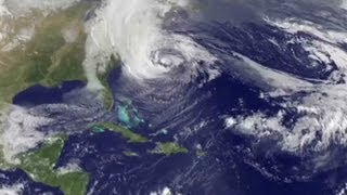 Watch the evolution of the superstorm in the Atlantic