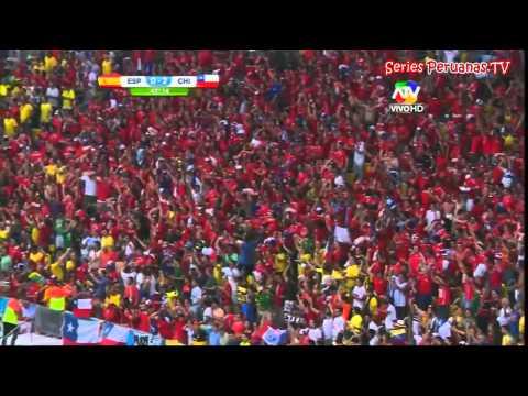 Mundial Brasil 2014  Chile 2-0 España Tv Peruana Gol Charles Aranguiz