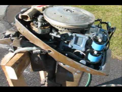 1976 Evinrude 15 hp first test run on muffs