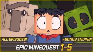EPIC MINEQUEST (ALL EPISODES) + BONUS ENDING | Remastered Version