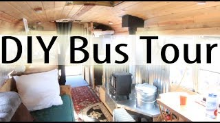 FULL DIY SCHOOL BUS CONVERSION TOUR!