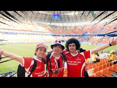 日本対コロンビア戦にとある3人組YouTuberが映り込む!?【W杯】