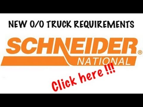 "Schneider IC Choice ""NEW"" Truck Requirements- The Truckers Coach"