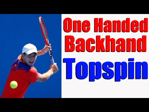 Tennis One Handed Backhand | How To Get Topspin | Free Tennis Lesson