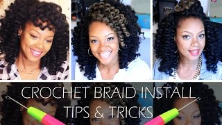 Marley Hair Crochet Braids using Bobby Pins Tutorial. ????? ...