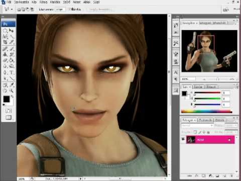 Lara Croft transformation with Photoshop