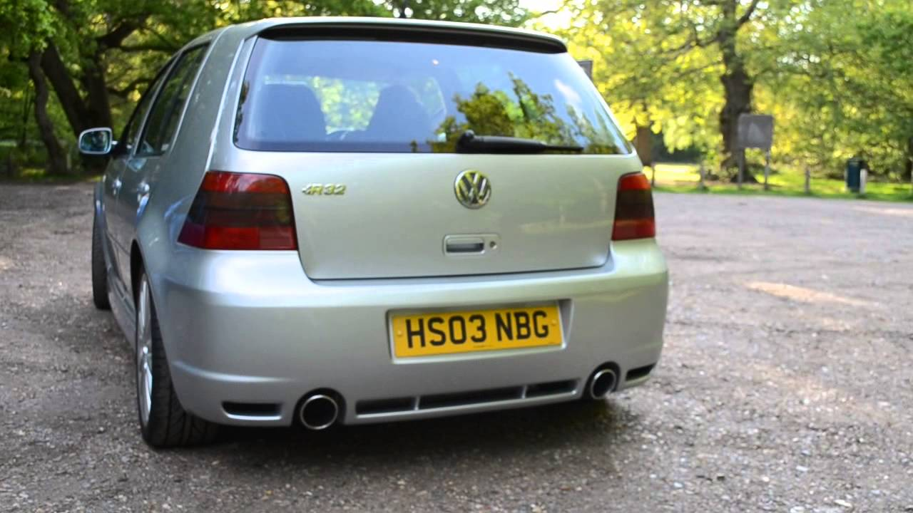 vw golf r32 v6 2003 mk4 standard exhaust sound youtube. Black Bedroom Furniture Sets. Home Design Ideas