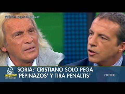 Hugo Gatti y Cristóbal Soria, enfrentados por Leo Messi y Cristiano