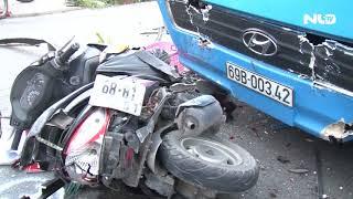 Tai nạn liên hoàn ở Vĩnh Long, 10 người thoát chết