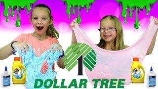 DOLLAR STORE SLIME CHALLENGE!!! Making Slime Using Dollar Tree Ingredients!