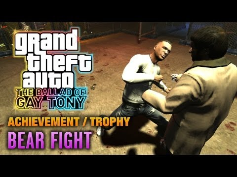 Gta: The Ballad Of Gay Tony - Bear Fight Achievement   Trophy (1080p) video