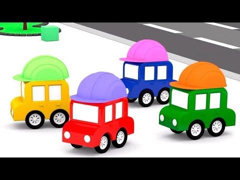 Lehrreicher Zeichentrickfilm - Die 4 kleinen Autos auf der Baustelle