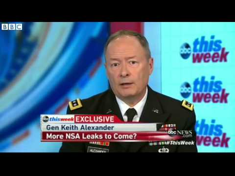 NSA General Keith Alexander: 'Snowden betrayed us' - BBC