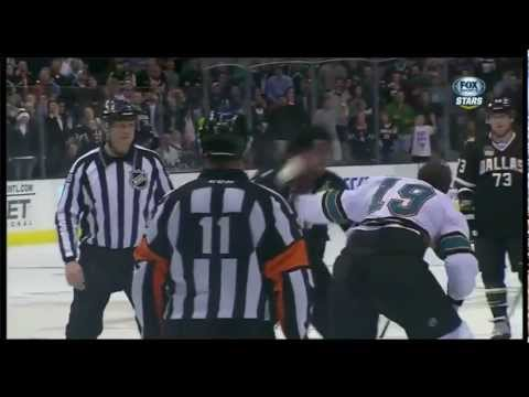 Joe Thorton vs Jamie Benn fight 2/23/13