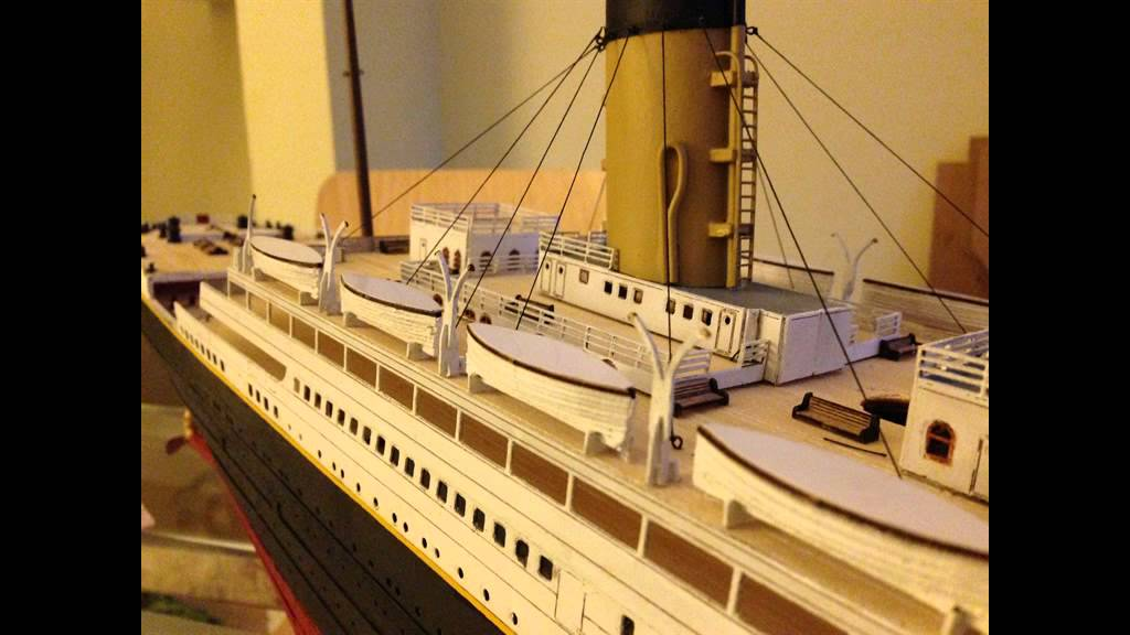 Titanic model build 1 200 youtube for I salonisti titanic