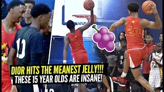Dior Johnson Hits The MEANEST JELLY of The Summer!! Best 15 Year Old AAU Squad In America!?
