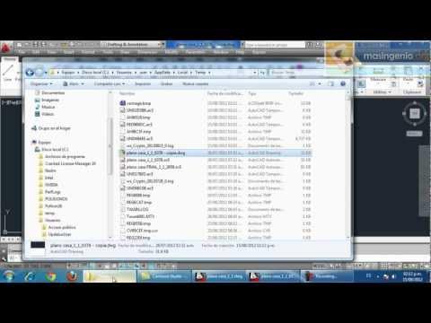 Recuperar Archivo de AutoCAD DWG .SV$ .BAK de forma rápida