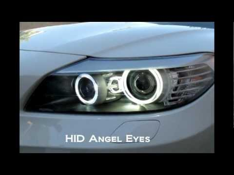 The Magnificent HID Angel Eyes for BMW Z4. Way Brighter Than LED!