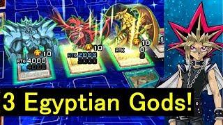 [Yu-Gi-Oh! Duel Links] Ojama XYZ to summon 3 Egyptian Gods