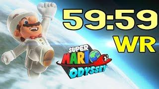 FIRST EVER Super Mario Odyssey Speedrun in UNDER 1 HOUR! (1P World Record on March 23rd / 2019)