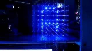 8x8x8 LED cube flying text