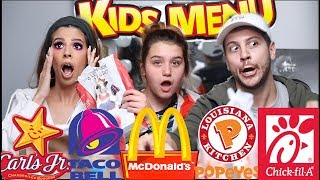 Extreme Fast Food Kids Meals Mukbang Laura Lee Niece