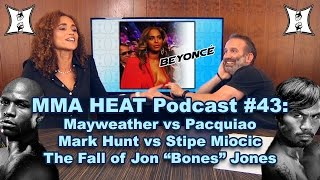 MMA H.E.A.T. Podcast #43: Mayweather vs Pacquiao Fallout, Jones' UFC Suspension, Miocic vs Hunt