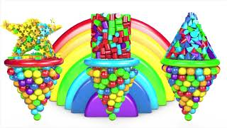 Learn Colors and Numbers with A lot of 3D Candy Colors for Kids and Children   Learning Colors Toys