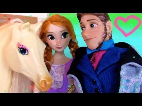 Disney Frozen Series Prince Hans Princess Anna Horse Stables Kristoff Queen Part 12 Barbie Dolls