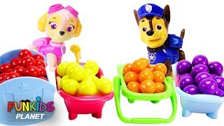 Paw Patrol Toilet Gumball Toy Kinder Egg Chocolate Learn Colors Trolls Slime